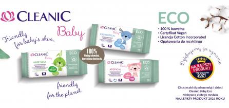 """Cleanic Baby ECO laureatem badania konsumenckiego """"Najlepszy Produkt  2021– Wybór Konsumentów""""!"""