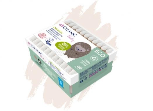Patyczki higieniczne dla niemowląt i dzieci Cleanic Baby ECO Organic