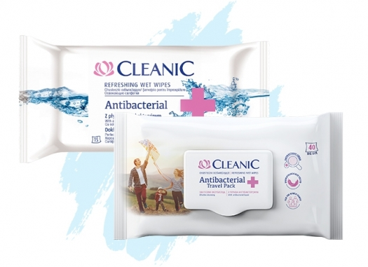 Chusteczki odświeżające Cleanic Antibacterial