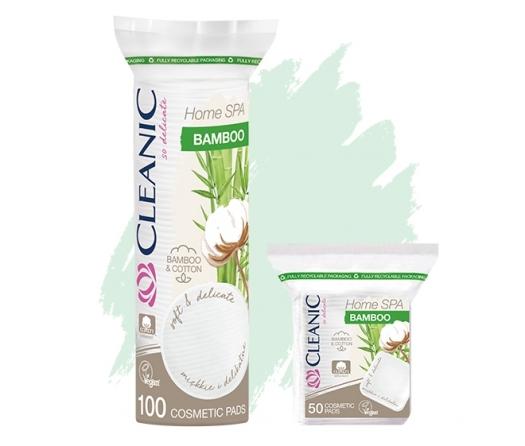 Płatki kosmetyczne Cleanic Home SPA Bamboo