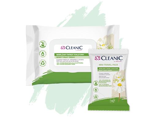 Влажная туалетная бумага Cleanic