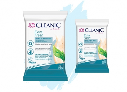 Cleanic Extra Fresh intimate hygiene wipes