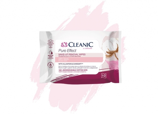 Cleanic Pure Effect make-up removal wipes for dry skin