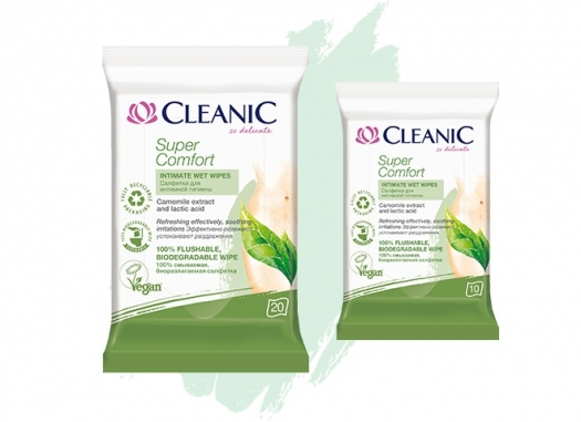 Cleanic Super Comfort intimate hygiene wipes