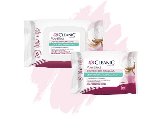Chusteczki do demakijażu Cleanic Pure Effect do cery normalnej i mieszanej