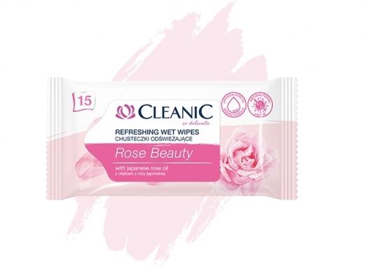 Chusteczki odświeżające Cleanic Rose Beauty