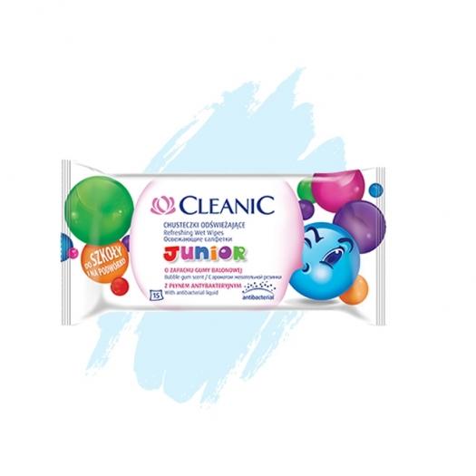 Chusteczki odświeżające Cleanic Junior