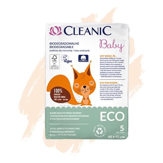 Podkłady dla niemowląt i dzieci Cleanic Baby ECO