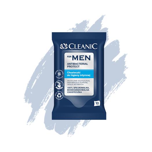 Chusteczki do higieny intymnej Cleanic For Men Antibacterial Protect