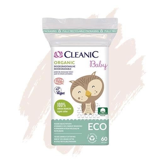 Płatki bawełanie dla niemowląt i dzieci Cleanic Baby ECO Organic
