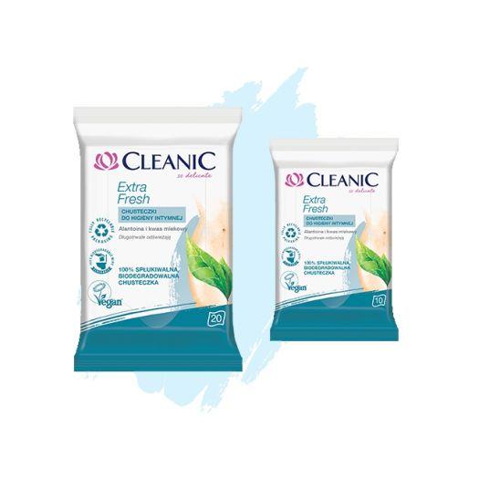 Chusteczki do higieny intymnej Cleanic Extra Fresh